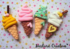 Heladitos imanes. Ideales para dejar notitas dulces en la heladera <3