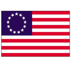american flag line art