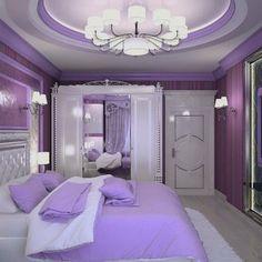 Living room ideas purple bedroom decor ideas for 2019 Purple Bedroom Decor, Purple Bedrooms, Room Ideas Bedroom, Bedroom Colors, Home Decor Bedroom, Modern Bedroom, Bedroom Black, Royal Bedroom, Small Bedrooms