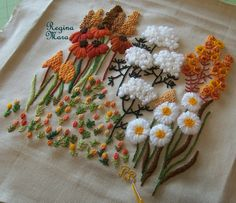 Bordado Dimensional by Regina Mara, Brasil http://www.pinterest.com/felicci/my-embroideries-and-patchwork/