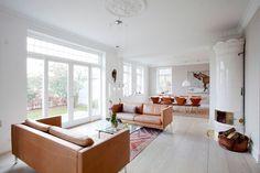 I love the light in this living-room. Dinesen-floor, swedish oven and pk21 table #Scandinavia
