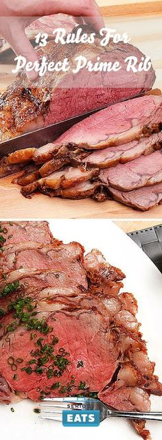 Is there anything more beautiful than a perfect prime rib? A deep brown crust crackling with salt and fat, sliced open to reveal a juicy… Let cooking magic show you how to cook. Sushi Recipes, Rib Recipes, Roast Recipes, Cooking Recipes, Game Recipes, Recipies, Sirloin Recipes, Kabob Recipes, Fondue Recipes