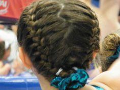 Astounding Gymnastics Hairstyles Gymnastics And Braided Buns On Pinterest Short Hairstyles Gunalazisus