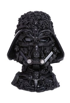 Darth Vader Made Out of Used Darth Vader Toys