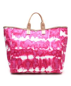 Take a look at the Juicy Couture Fuchsia Tie-Dye Canvas Tote on #zulily today!