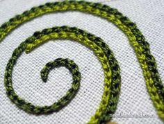 Resultado de imagem para chain embroidery