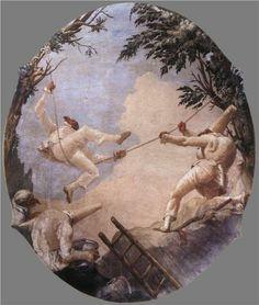 The Swing of Pulcinella  by Giovanni Domenico Tiepolo
