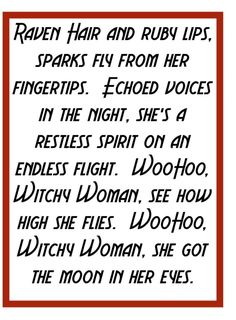 The Eagles - Witchy Woman - song lyrics, songs, music lyrics, song quotes, music quotes