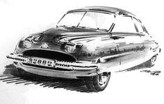 Saab 92 sketch from Sixten Sason, 1946