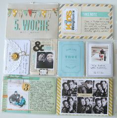Love the little flag card, the lace and button envelope card and the card with 6 pictures.  Nice!
