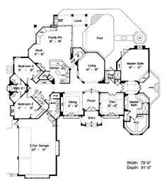 Tour the Lowery Country French Home that has 3 bedrooms, 3 full baths and 1 half bath from House Plans and More. See highlights for Plan House Plans And More, Dream House Plans, House Floor Plans, My Dream Home, Dream Houses, Luxury Houses, Victorian House Plans, French Country House Plans, Victorian Homes