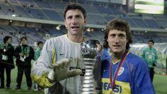 Boca Juniors Campeón Copa Intercontinental 2003 (Roberto Abbondanzieri y Guillermo Barros Schelotto con la Copa)