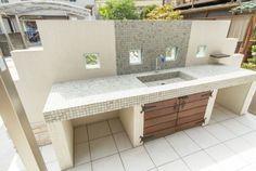Outdoor Kitchen Sink, Outdoor Sinks, Outdoor Kitchen Design, Home Decor Kitchen, Lavabo Exterior, Outside Sink, House Cleaning Company, Garden Sink, Dirty Kitchen