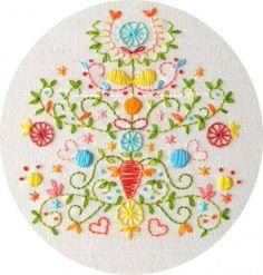 Polka & Bloom embroidery idea