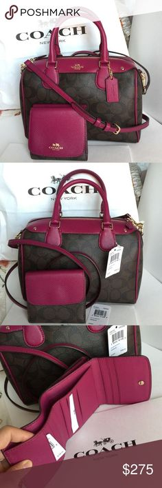 Handbags & Wallets - Coach Purse Wallet Authentic Coach Purse and Wallet, both brand new with tag! Coach Bags Crossbody Bags - How should we combine handbags and wallets? Coach Handbags, Louis Vuitton Handbags, Tote Handbags, Purses And Handbags, Leather Handbags, Crossbody Bags, Straw Handbags, Tote Bags, Luxury Handbags