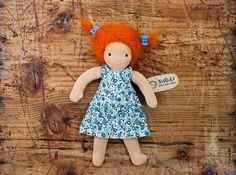 Rosy  Waldorf Doll 22 cm / 9 by naronka on Etsy