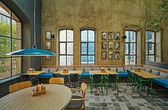 The Populist Brewery was completed recently by Lagranja Design in Istanbul, Turkey. Almost sqm of the very first Turkish brewery Restaurant Design, Restaurant Bar, Industrial Restaurant, 2016 Pictures, Istanbul Turkey, Brewery, Interior Design, Gallery, Places