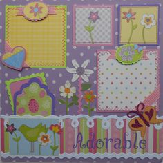 Adorable Girl Single-Page Premade Scrapbook Layout