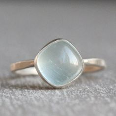 Aquamarine Ring in Sterling Silver  Birthstone by apostrophie, $89.00