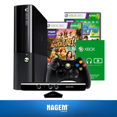 Tenha uma experiência de jogo impressionante com o Xbox 360 Slim 4GB + Kinect! Confira nossa #OfertaNagem de hoje.