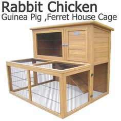 Deluxe 2 Storey Rabbit Hutch Cage with Under-Run | Buy Small Animal Supplies