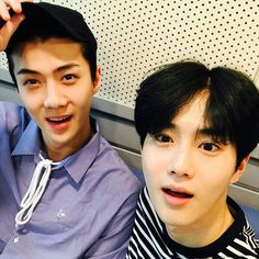 170906 Power FM Instagram Update with SUHO and SEHUN