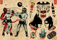 heroes + old school / Traditional tattoo / by Derick James