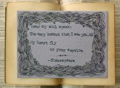 Wedding Gifts for Couples  Shakespeare by ThreeSummerDaysShop, $40.00
