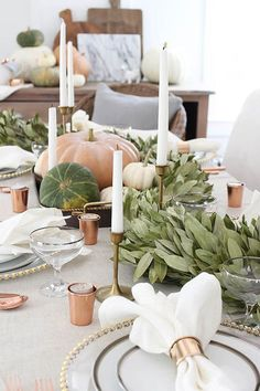 Grounding Garland - Thanksgiving Day Tables That Are #Goals - Photos