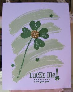 CAS for St. Pat by Barb Mann - Cards and Paper Crafts at Splitcoaststampers