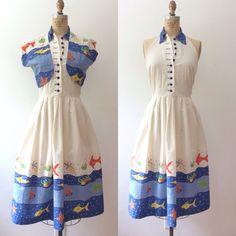 1950s dress / 1950s Vicky Vaughn dress / Fruits de by nocarnations, $168.00