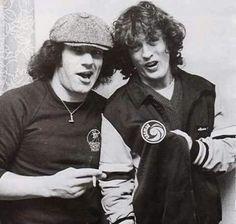 "BRIAN JOHNSON & ANGUS YOUNG ( ""1980""! ) AC/DC"