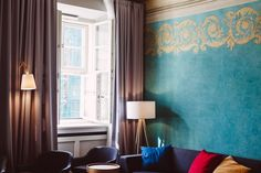 Stradonia Serviced Apartments **** w Kraków, Poland. Giving the past a future.   #moderndesign #oladandnew #polychromies #paintings