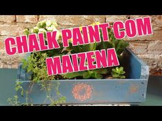 CHALK PAINT com MAIZENA e pintura envelhecida em caixote #dolixoaoluxo - YouTube Stencil, Diy Videos, Chalk Paint, Mandala, Youtube, Painting, Distressed Painting, Ageing, Crates