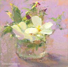 Painting Flowers - Floral Still Life by Roos Schuring Art Floral, Floral Artwork, Papier Paint, Still Life Flowers, Plant Drawing, Still Life Art, Art Graphique, Cool Artwork, Flower Art