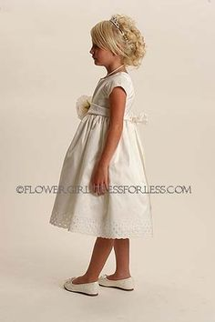 cute flower girl dress!!! appropriate wedding color sashes  can be added!