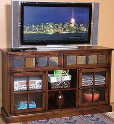 famili room, design santa, sunni design, tv consoles, hous idea, tv stands, tvs, santa fe, drawer