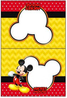Cartão Agradecimento de Mesa Mickey:
