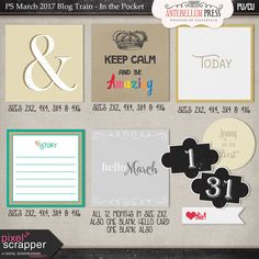 PS Mar 2017 Blog Train - In the Pocket Freebie Kit from Antebellum Press