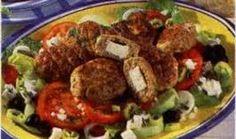 Griekse bifteki met salade