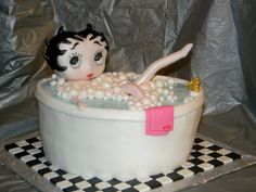This cake makes me think of the Betty Boop doll that my dear friend, Mr. Simpson gave Em.