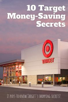 10 Target Money-Saving Secrets - start saving $$-->