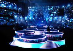 3/9 晚会舞台由可升降舞台、LED地屏...