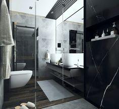 Black & Grey Bathroom by Alexandru Ionita #bathroom #design #homebathroom #home #inspiration #interiordesign #designinterior