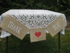 Burlap+Banner+Rustic+Wedding+Thank+You+Red+and+by+YourDivineAffair,+$16.95
