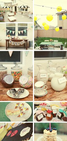Cute idea to have a breakfast party with Girlfriends and/or Girlfriends and their little ones!!!! ADORABLE!