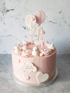 Kép 18th Birthday Party, Birthday Cakes, Dessert Cake Recipes, Baby Shower, Christening, First Birthdays, Fondant, Berries, Sweets