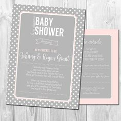 Perfect Long Distance Baby Shower Invitation