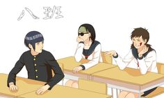 Kiba,Shino and Hinata Gender bender