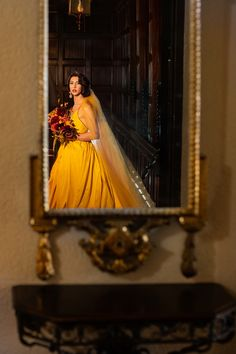 Ever seen a #bride and a #groom played by the same person? This #styledshoot brings that vision to life. When you've got a #dragperformer and an amazing #vendor team... anything is possible. | When The Bride & The Groom Are The Same Person | A Practical Wedding | #wedding #weddinginspo #weddingstyle #yellowdress #yellowweddingdress #queer #gendercreative #drag #lgbtq